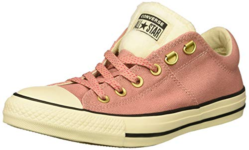 - Converse Women's Chuck Taylor All Star Faux Fur Madison Low Top Sneaker, Rust Pink/Natural Ivory/Black, 8 M US