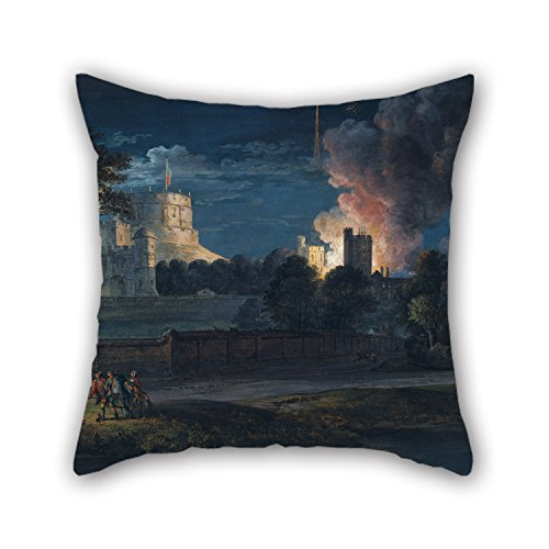 [Artistdecor The Oil Painting Paul Sandby - Windsor Castle From Datchet Lane On A Rejoicing Night, 1768 Cushion Cases Of ,18 X 18 Inches / 45 By 45 Cm Decoration,gift For Him,father,gril] (Bike Lane Costume)