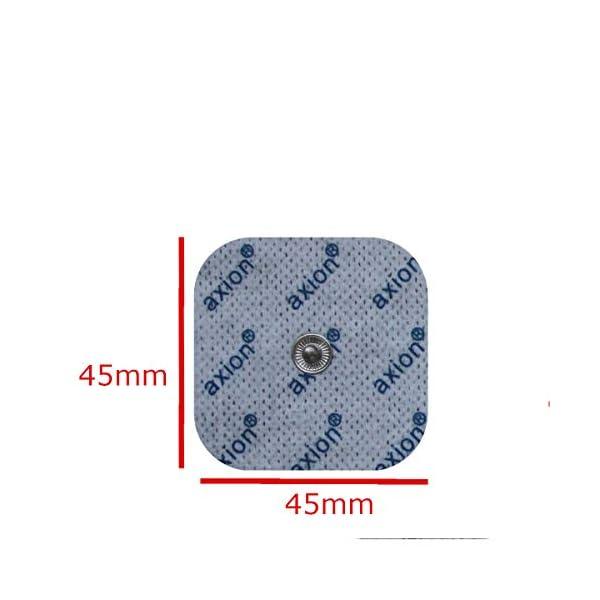 axion - Set di 16 elettrodi 8 da 10x5 cm e 8 da 5x5 cm compatibili con dispositivi BEURER & SANITAS elettrostimolatori con attacco a bottone da 3,5 mm 5 spesavip