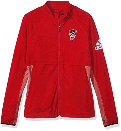 NCAA North Carolina State Wolfpack Adult Women Logo Performer Full Zip Jacket, Large, Power Red