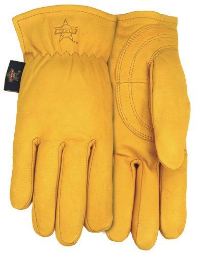 - Professional Bull Rider (PBR) Premium Goatskin Leather Work Glove, Medium, PB105