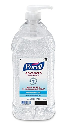 PURELL Advanced Instant Hand Sanitizer - 2L Pump Bottle, Original MpVkfW, 6 Bottles