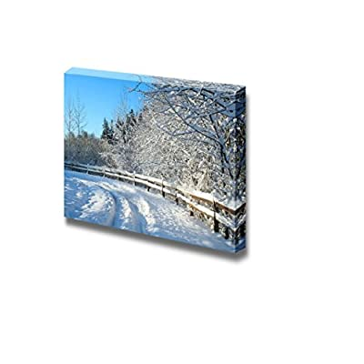 Canvas Prints Wall Art - Beautiful Winter Snow Landscape with a Polarized Blue Sky. - 16