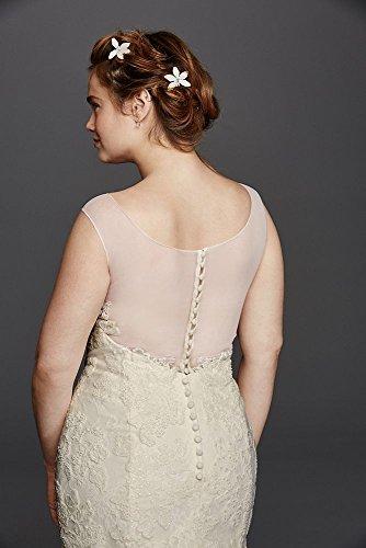 567fd1e4fe Plus Size Melissa Sweet Illusion Tank Wedding Dress Style 8MS251150