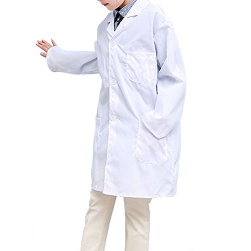 CLanItris America Kids Unisex Doctor Lab Coat for Scientist Role Play Costume Set - Soft Touch (X-Large,White) by CLanItris (Image #3)