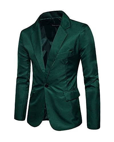 Hommes Blazer Costumes Formelle Foncé Manteau Veste Vert aaq1rFZ