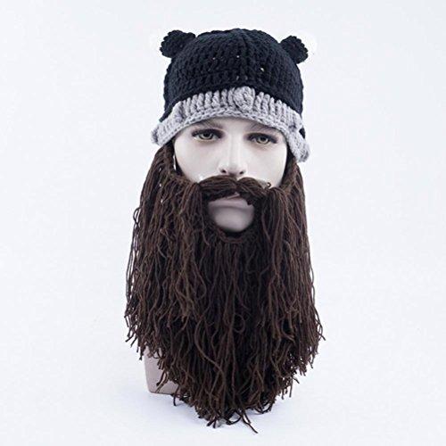 Brown Punto Beanie Gorras Gorras Bearded Sombreros Halloween Gracioso Unisex De Gorros Vagabond Invierno qT7RRX