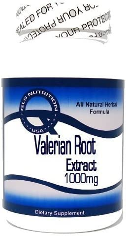 Valerian Root Extract 1000mg 200 Capsules GLS