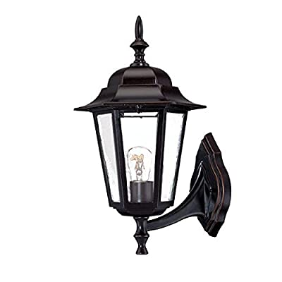 Acclaim 6111ABZ Camelot Collection 1-Light Wall Mount Outdoor Light Fixture, Architectural Bronze