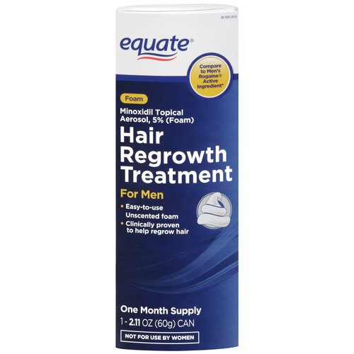 Equate - Hair Regrowth Treatment for Men, Minoxidil 5%, Topical Aerosol Foam, 1 Month Supply