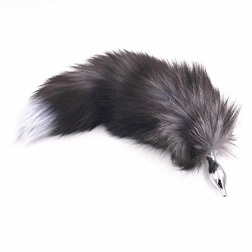 Price comparison product image Joycentre Black Faux Fox Tail Stainless Steel Fun Plug Romance Games Play Party Toy Love Gift For High Happy (Style 6)
