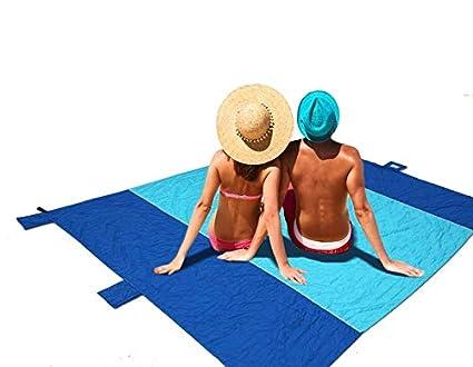 Nueva toalla de picnic impermeabile de gran tamaño, toalla de playa, a prueba de arena, ...