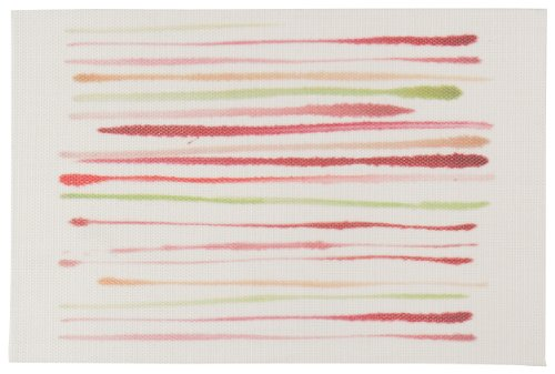 Now Designs Brushstroke Placemats, Candy, Set of 4 - Set of four matching placemats Each placemat measures 12 by 18 inches Beautiful muted shades for a watercolor effect - placemats, kitchen-dining-room-table-linens, kitchen-dining-room - 415kFHN%2BW6L -