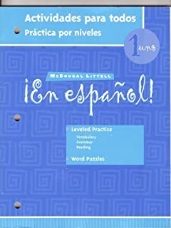 En Espanol 1: Actividades Para Todos (Spanish Edition)