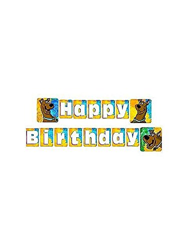 Scooby-Doo 'Mod Mystery' Happy Birthday Banner (1ct) for $<!--$19.99-->