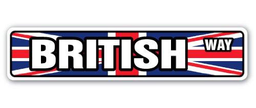 BRITISH FLAG Street Sign britian england national nation pride| Indoor/Outdoor |18