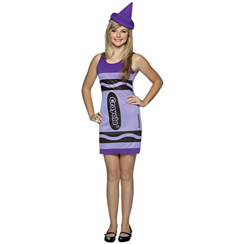 Crayola Crayon Tank Dress Teen/Junior Costume Wisteria Purple - Teen