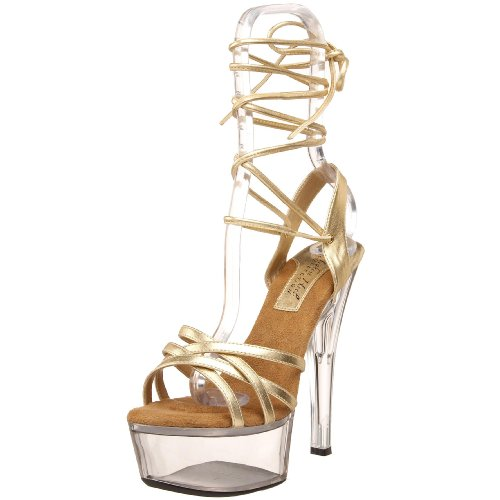 The Highest Heel Women's Tess Platform Sandal,Gold Metallic,10 M US -