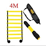 ELEGIANT Outdoortips 4M 8 rung Speed Agility Training Ladder For Speed Football Fitness Feet Training