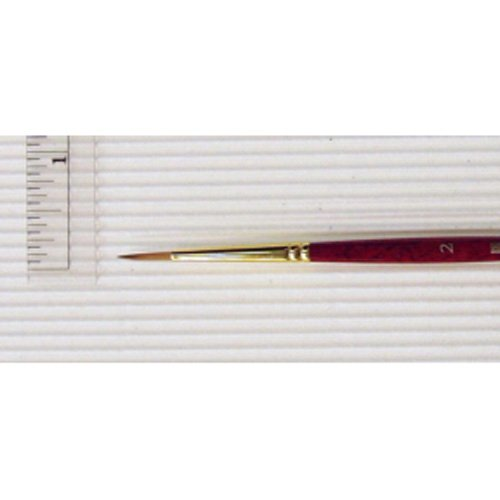 Princeton Heritage, Golden Taklon Brush for Watercolor & Acrylic, Series 4050 Round Synthetic Sable, Size 2