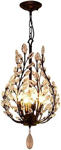 Lightmyself Stylish Modern Design Unique Elegant Crystal Chandelier for Bedroom Kitchen Dining Room Living Room Black, 4 Light- D14.1