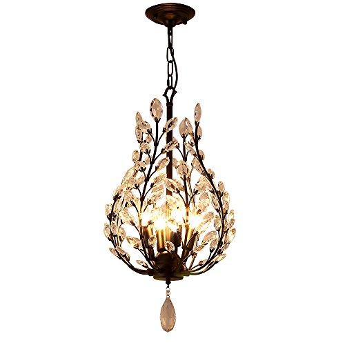 Cheap Aero Snail Modern Metal Crystal Rustic Loft Cafe Bar 4-Light Ceiling Hanging Pendant Lamp Chandelier Fixture