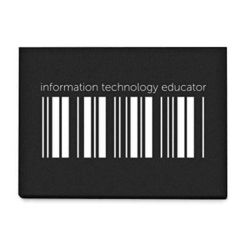 Idakoos - Information Technology Educator barcode - Occupations - Canvas Wall