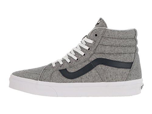 Zapatillas Vansity Sk8-hi Reedición Sneakers (gris / Blanco) Zapatillas Altas De Lana Para Hombre