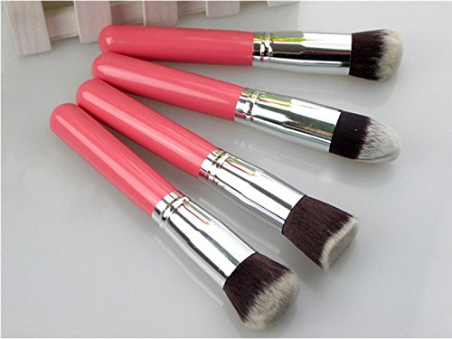 Hezon 4PCS Pink Color Makeup Brush Set Portable Professional Makeup Tools EASY TO USE by Hezon