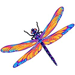 Beautiful Dragon Fly Pink and Purple Decal - Five Inch Wide Full Color Decal - For Indoor or Outdoor Use - Car, Truck, Laptop, MacBook