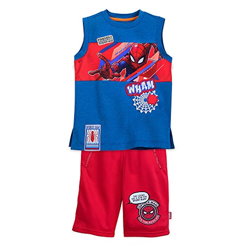 Marvel Spider-Man Tank Top and Short Set for Boys Size 7/8 Multi]()