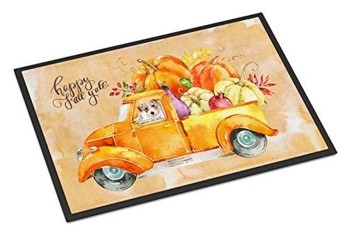 Caroline's Treasures Fall Harvest Jack Russell Terrier Door Mat Multicolor