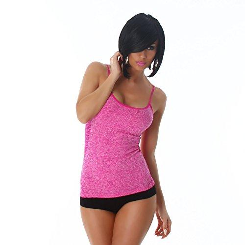 Fashion - Camiseta sin mangas - Básico - para mujer Rosa