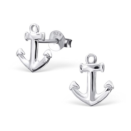 Hypoallergenic Anchor Stud Earrings for Women or Girls 16544 (Anchor Stud Earrings)