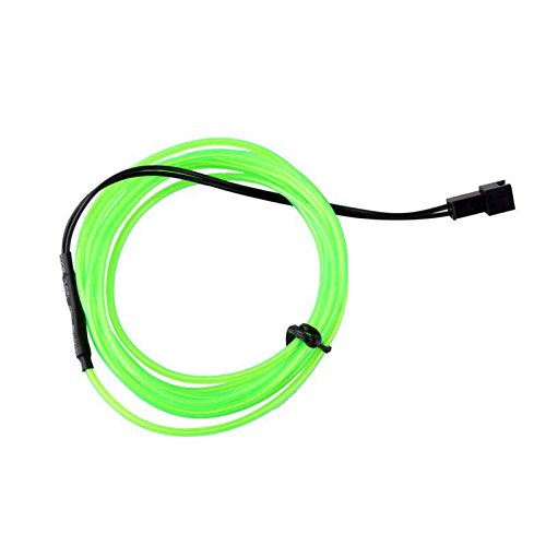1M green Flexible EL Wire Rope Neon Light Glow Car Bar Dance Party Tube + Controller