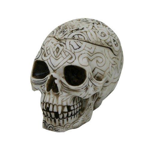 11,43 cm L pequeño tatuaje celta cenicero de cráneo: Amazon.es: Hogar