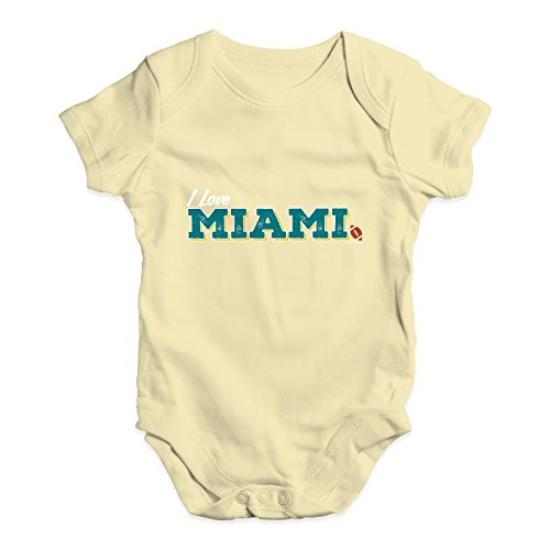 TWISTED ENVY I Love Miami American Football Baby Unisex Printed Infant Bodysuit Baby Grow