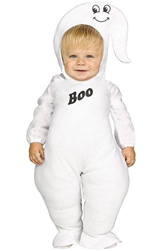 Ghost Infant Toddler Jumpsuit Costumes (Toddler Lil Puffy Ghost Costume size Small 24 Months-2T)