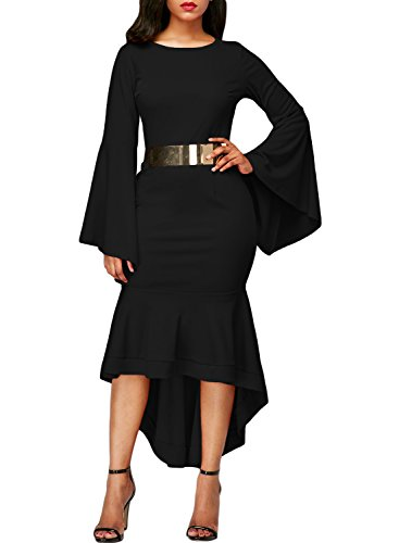 long black evening dresses with sleeves - 3