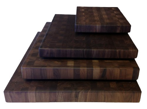 Small Walnut Butcher Block (Walnut Cutting Boards End Grain Hardwood Butchers Chopping Block Size: Small 9x12 inch)
