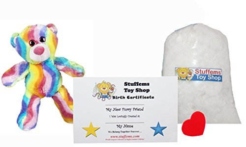 Make Your Own Stuffed Animal Mini 8 Inch Bubble Gum Bear Kit - No Sewing Required! (Bear Bubble)