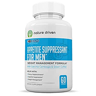 Men's Appetite Suppressant - Weight Loss for Men - Increase Natural Energy - Boost Metabolic Rate - 30 Day Supply