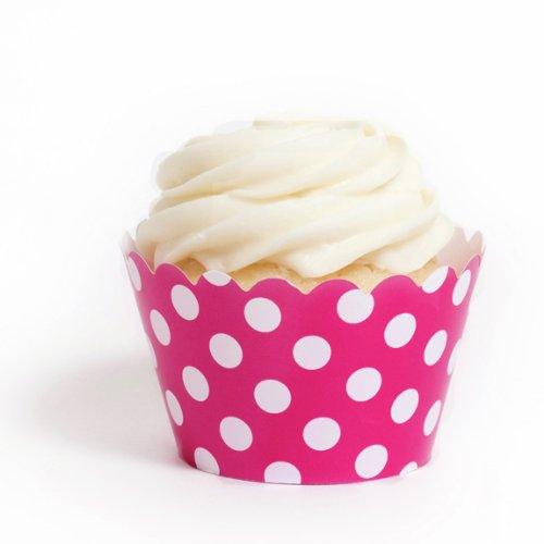 Dress My Cupcake Fuchsia Wrappers