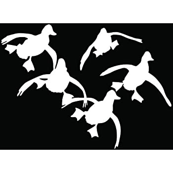 Amazoncom Flying Ducks Hunting Hunter Car Truck Window Bumper - Hunting decals for truckshuntingfishing window decals in white or camouflage at woods