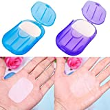 Infgreate Make Your Trip More Exciting 2 Boxes Mini Washing Hand Bath Travel Scented Slide Sheets Foaming Paper Soap