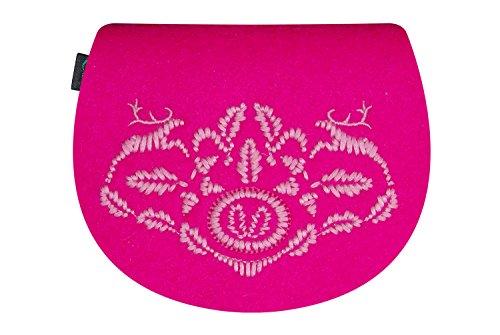 KringsFashion® - Bolso cruzados de Fieltro para mujer Rosa - rosa