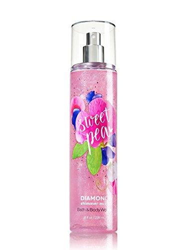 Bath and Body Works SWEET PEA Diamond Shimmer Mist 8 Fluid Ounce