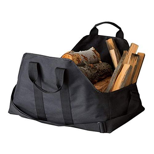 - Ationgle Large Firewood Log Carrier, Fireplace wood carrying bag with Handles, Durable Double Layer Oxford Cloth Tote Bag Shoulder Strap Designed for Carrying Wood, Heavy Hauler Holder, 24.2 x 15.8inc