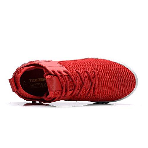 Tiosebon Dames Joker Mode Schoenen Lichtgewicht Ademende Sneakers 6502 Rood