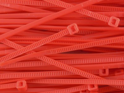 4 Inch Red Miniature Nylon Zip Tie - MS3367-4-2 - 100 Pack